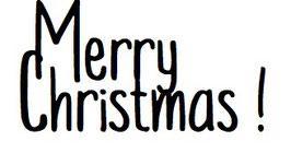 """Schriftzug """"Merry Christmas!"""""""