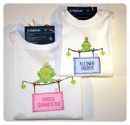Doppelpack Geschwister-Shirts FROSCHKÖNIG
