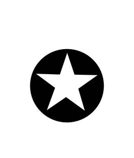 Kreis mit Stern groß