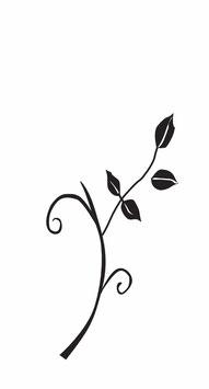 Zweig mit Blättern