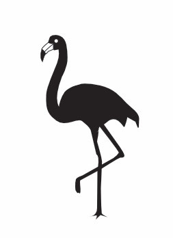 Flamingo flächig maxi