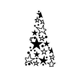 Tannenbaum mit Sternen