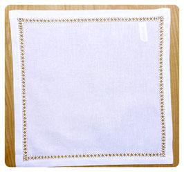 Deckchen 30x30 cm mit schmaler Blende und Hohlsaum