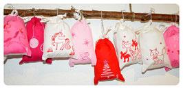 Adventskalender rose-pink-rot
