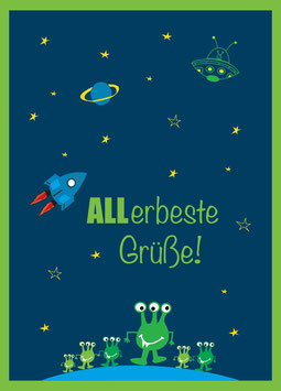 """Postkarte """"ALLerbeste Grüße!"""""""