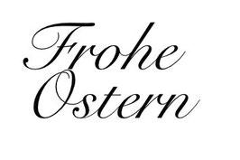"""Schriftzug """"Frohe Ostern"""""""