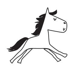 Comic Pferd mini