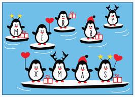 """Postkarte """"Pinguine"""""""