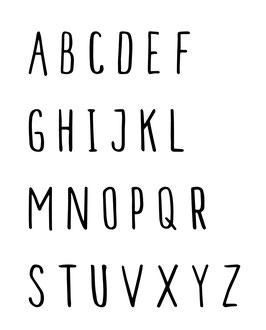 A-Z Einzelne Buchstaben (Großbuchstaben) Typo MALAM