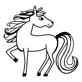 Pferd/Einhorn