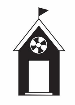 Haus mit Rettungsring