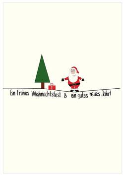 """Postkarte """"Weihnachtsmann"""""""