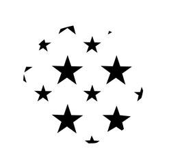 Weihnachtskugel mit Sternen maxi