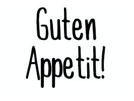 Schriftzug GUTEN APPETIT!