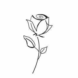 Rose modern mit Stiel