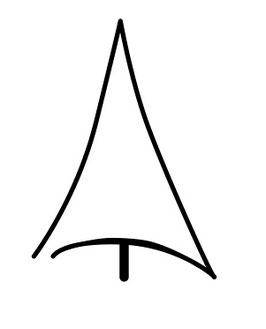 Tannenbaum abstrakt Kontur maxi