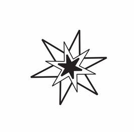 3fach-Stern weiß