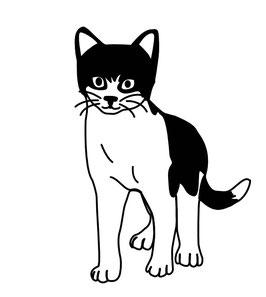"Katze stehend ""GÜNTHER"""