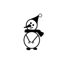 Schneemann mit Mütze