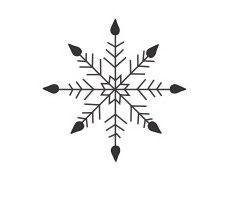 Schneeflocken-Stern 2 mini