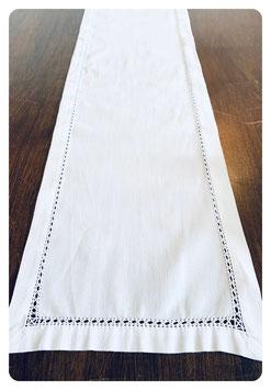 Tischband 25x170 cm mit Hohlsaum