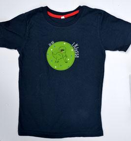 Shirt für den 1. Schultag - personalisiert mit Namensaufdruck und T-Rex-Applikation