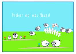 "Postkarte ""Probier mal was Neues!"""