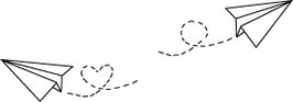 Papierflieger links oder rechts