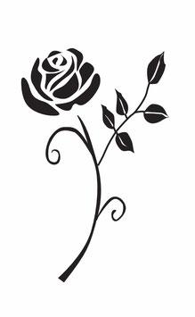 Rose abstrakt mit Stiel