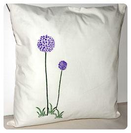 Kissen mit Sternenblume (Allium)