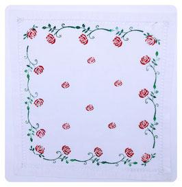 Deckchen mit Hohlsaum ROSEN