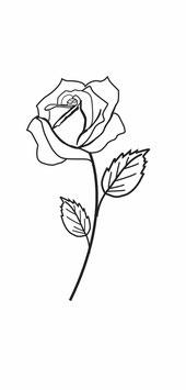 Rose klassisch mit Stiel