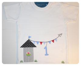 """Kinder-/ Babyshirt """"Strandhütte"""""""