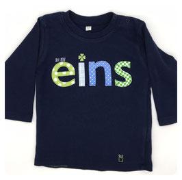 "Geburtstags-Shirt ""ICH BIN..."" (blau)"