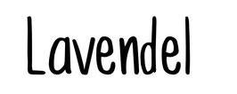 """Schriftzug """"Lavendel"""" modern"""