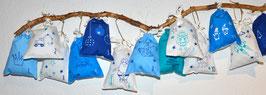 Adventskalender blau- türkis