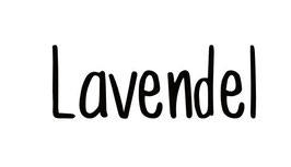 Lavendel Schriftzug modern