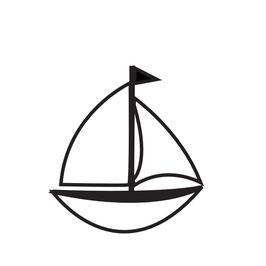 Segelboot medium