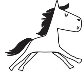 Comic Einhorn/Pferd