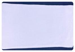 Kissenbezug weiß aus 100% Baumwolle - mit Hotelverschluss