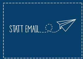 """Postkarte """"Statt Email"""""""