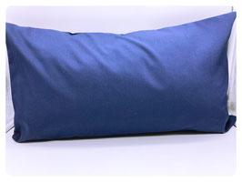 Kissenbezug dunkelblau aus 100% Baumwolle - mit Hotelverschluss