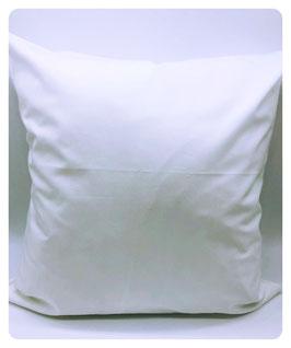 Kissenhülle weiß 40x40 cm