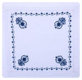 Deckchen mit Hohlsaum BLUMENORNAMENT