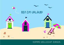 "Postkarte ""Bin im Urlaub!"""