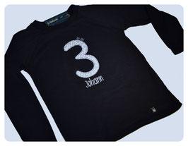 """Geburtstags-Shirt """"ICH BIN..."""" (dunkelblau)"""