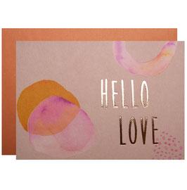 NEU - Karte mit Umschlag HELLO LOVE