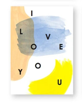 NEU - Postkarte I LOVE YOU