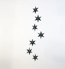 leider ausverkauft - Sternengirlande (dunkelgrün) aus Karton