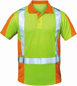 Warnschutz Polo Shirt 2 farbig Orange/Gelb